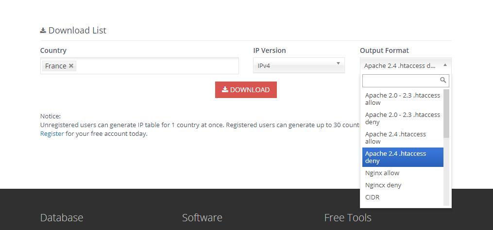 如何允许或限制某一国或地区的用户访问网站