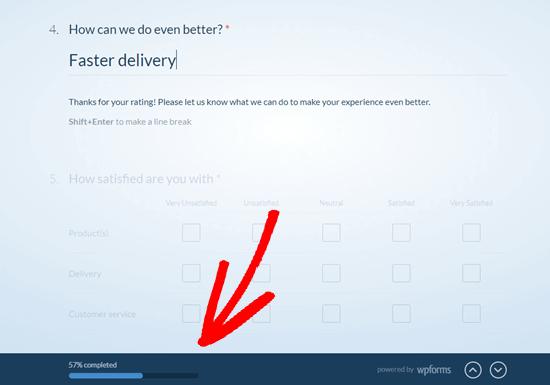 WPForms将使用进度条向用户显示调查问卷有多远