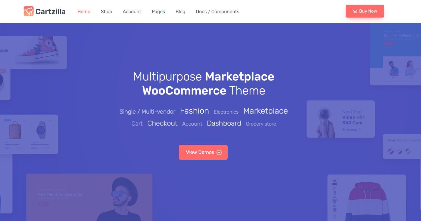 Cartzilla v1.0.5- 数字市场和杂货店WordPress主题