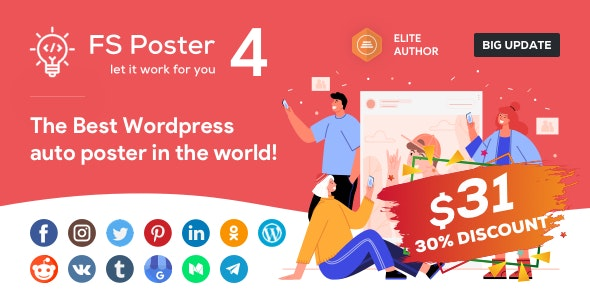 FS Poster v4.0.5- WordPress 自动计划和发布插件