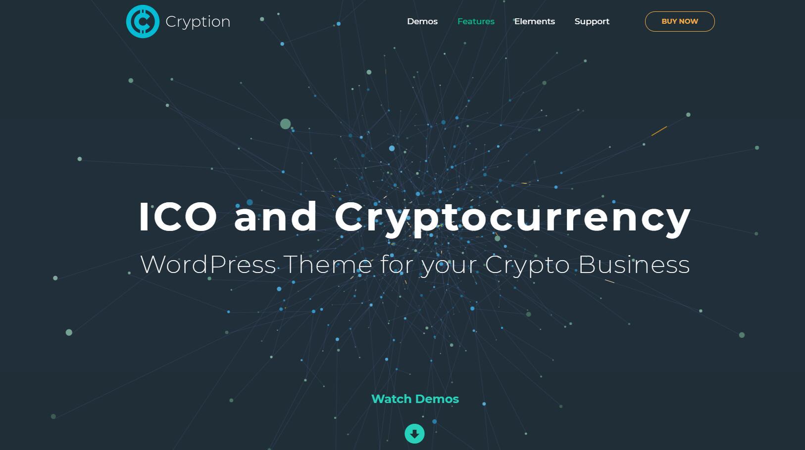 Cryption v1.0.6.1- ICO, 数字加密货币和区块链WordPress主题