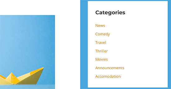 重新排序的类别列表