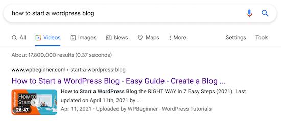 如何在WordPress中正确设置视频SEO
