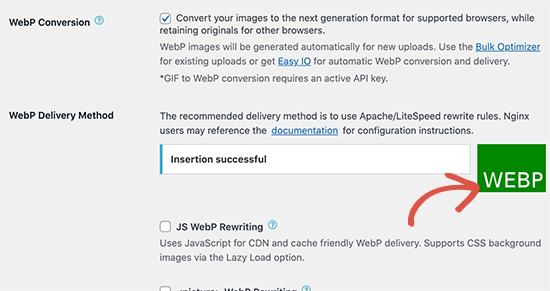 WebP传递方法成功