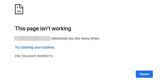 如何修复WordPress中的错误太多重定向问题