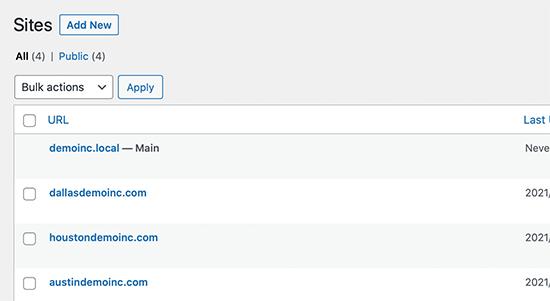 多站点网络上WordPress站点的自定义域