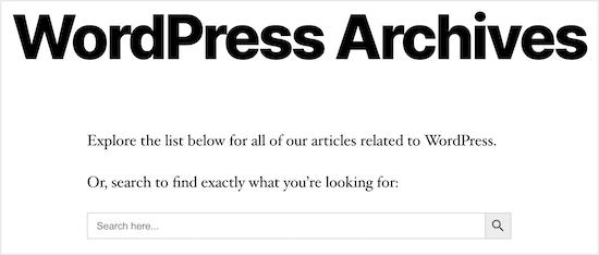 如何在WordPress中按类别搜索