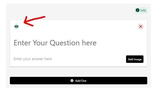 在前端打开或关闭FAQ模式
