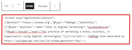 在块编辑器中添加FAQ模式